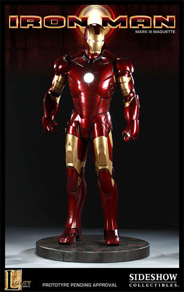 iron man statue2 SR Pick [Collectibles]: Half Scale Iron Man Mark III Maquette