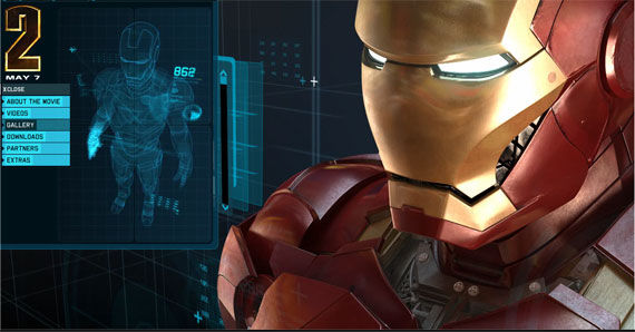 iron man website New Iron Man 2 Website is Sleek, Shiny & Awesome [Updated]