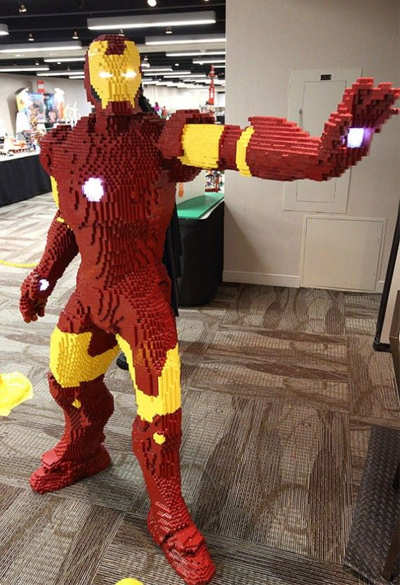 iron man2 570x832 SR Geek Picks: 8 Bit Looper, Life Size LEGO Iron Man, Dark Knight Meets Avengers & More