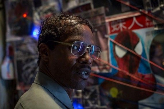 jamie foxx electro 570x379 New Amazing Spider Man 2 Images Feature Jamie Foxx & Dane Dehaan