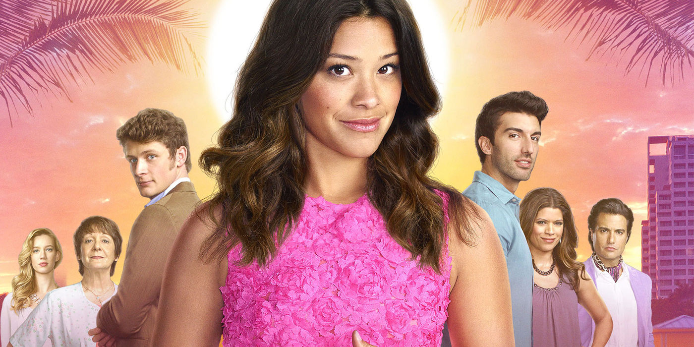 Jane The Virgin Full Cast Promo Image Pink