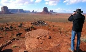 jerry bruckheimer monument valley 280x170 Lone Ranger Near Completion; New Set Photos of Trains & Monument Valley