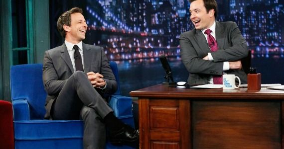 Seth Meyers on Late Night with Jimmy Fallon