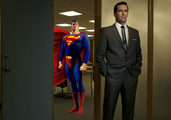 jon hamm superman reboot Jon Hamm Mocks Middle Aged Superman on Conan