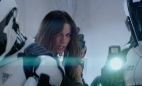 kate beckinsale police total recall trailer 280x170 Total Recall Trailer: Colin Farrells A Futuristic Super Spy On the Run