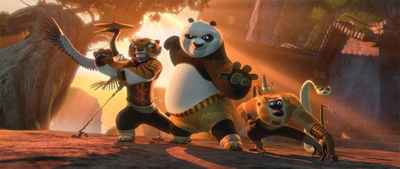 kung fu panda 2 po furious five Movie Image Roundup: Green Lantern, Three Musketeers, Cars 2 and More [Updated]