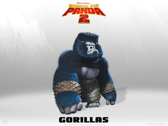 kung fu panda gorillas poster Movie Poster Roundup: Fast Five, Thor, X Men: First Class & More