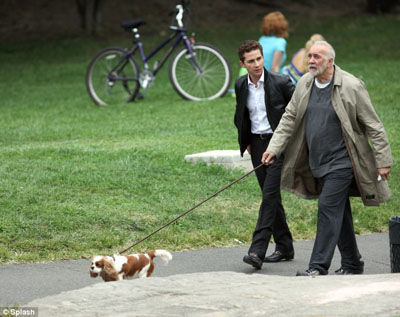 labeouf langella wall street 2 First Look at Michael Douglas in Wall Street 2