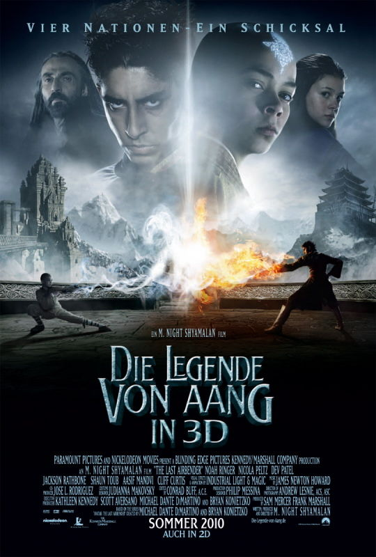 last airbender german poster The Last Airbender International Posters