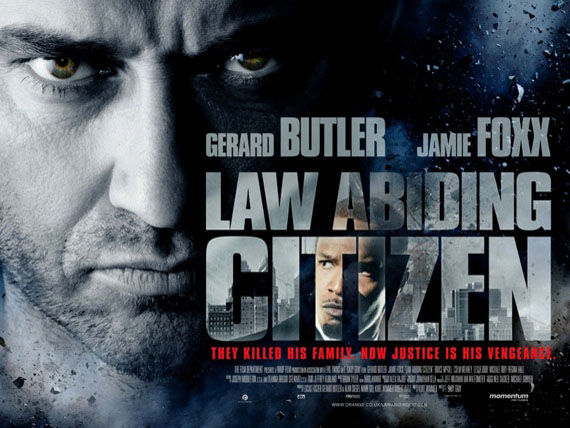 law abiding citizen banner poster gerard butler Poster Friday: Saw 6, Legion, Daybreakers, Parnassus & More!