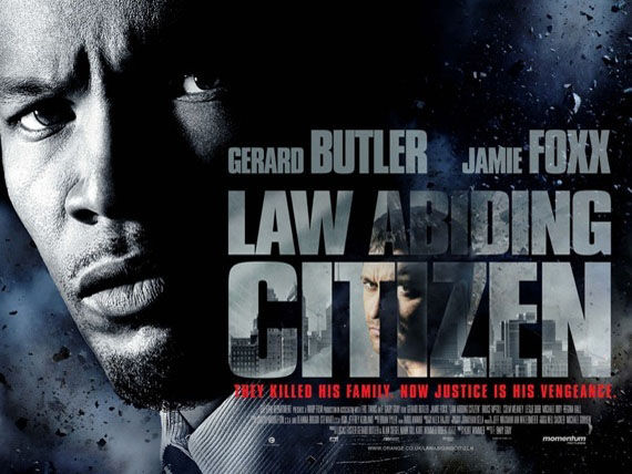 law abiding citizen banner poster jamie foxx Poster Friday: Saw 6, Legion, Daybreakers, Parnassus & More!