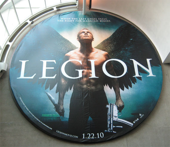 legion comic con poster paul bettany Comic Con: Legion Brings Angels With Machine Guns