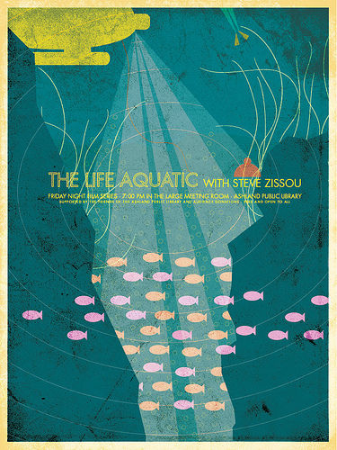 life aquatic poster SR Pick: Cool Retro Movie Posters from Brandon Schaefer