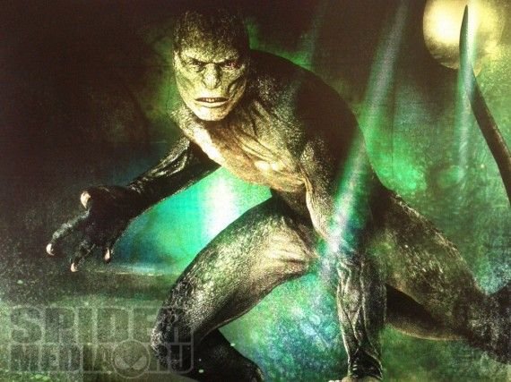 lizard artwork 570x427 Lizard artwork for The Amazing Spider Man