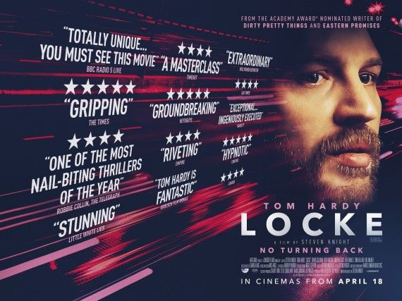 locke movie poster 570x427 Tom Hardy Thriller Locke Gets a New Trailer & Poster