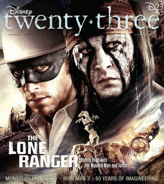 lone ranger d23 poster 570x638 New Lone Ranger Trailer   Watch Big Train Chases and Gunfights in Russian