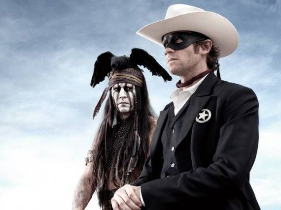 lone ranger depp hammer 570x427 Johnny Depp and Armie Hammer in Lone Ranger