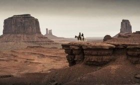 lone ranger monument valley scene 280x170 New Lone Ranger Images & Poster: Johnny Depps Tonto Outfit & Lots of Trains [Updated]