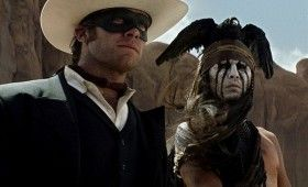 lone ranger movie tonto depp 280x170 New Lone Ranger Images & Poster: Johnny Depps Tonto Outfit & Lots of Trains [Updated]
