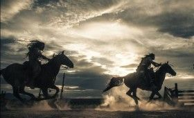 lone ranger riding horseback 280x170 New Lone Ranger Images & Poster: Johnny Depps Tonto Outfit & Lots of Trains [Updated]