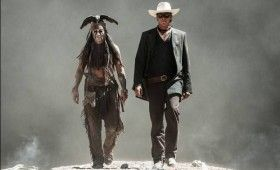 lone ranger tonto scene 280x170 New Lone Ranger Images & Poster: Johnny Depps Tonto Outfit & Lots of Trains [Updated]