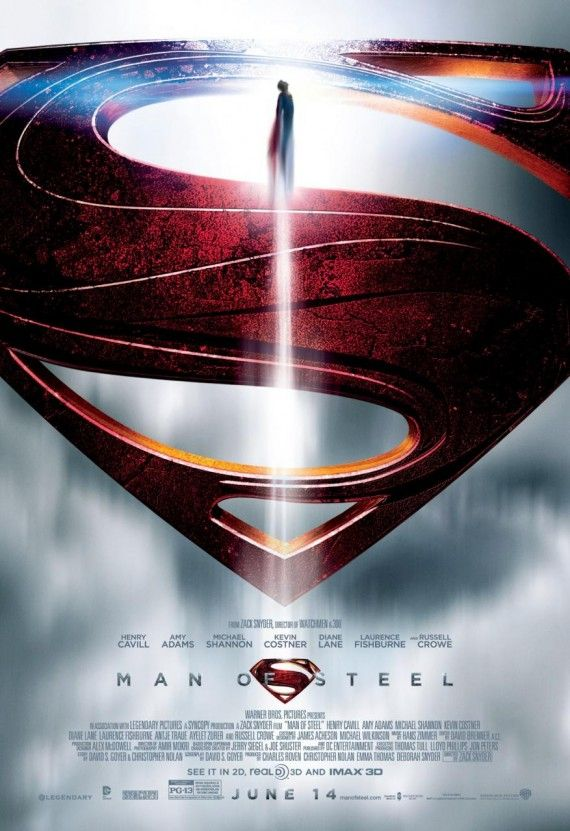 man steel poster 570x831 Man of Steel Poster #1