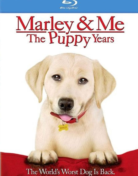 Marley and Me: The Puppy Years Blu-ray Cover