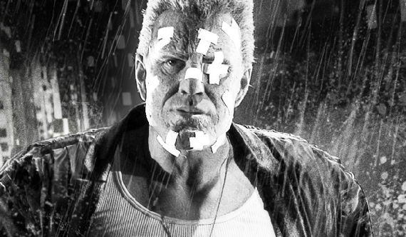 mickey rourke sin city 2 marv Iconic Moment In Cinema: Downey & Rourke in Iron Man 2