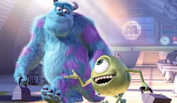mike and sully monsters inc Official Logo & Synopsis For Pixars Monsters University
