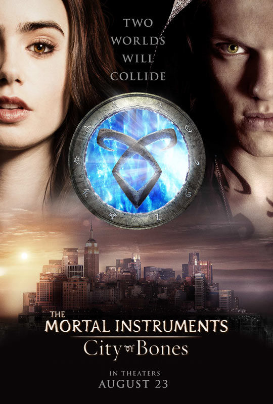 mortal instruments city bones poster New The Mortal Instruments: City of Bones Trailer: Rise of the Demon Fighter