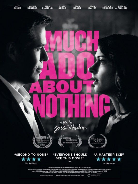 much ado about nothing poster 570x758 Much Ado About Nothing Trailer: Avengers Director Joss Whedon Does Shakespeare