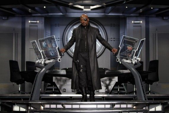 nick fury avengers 570x380 Avengers Interviews: Superhero Politics, Smart Hulk & Marvel Movie Future