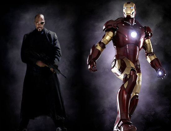 nick fury samuel l jackson and iron man robert downey jr Comic Con: Avengers Roster & Future Marvel Movies