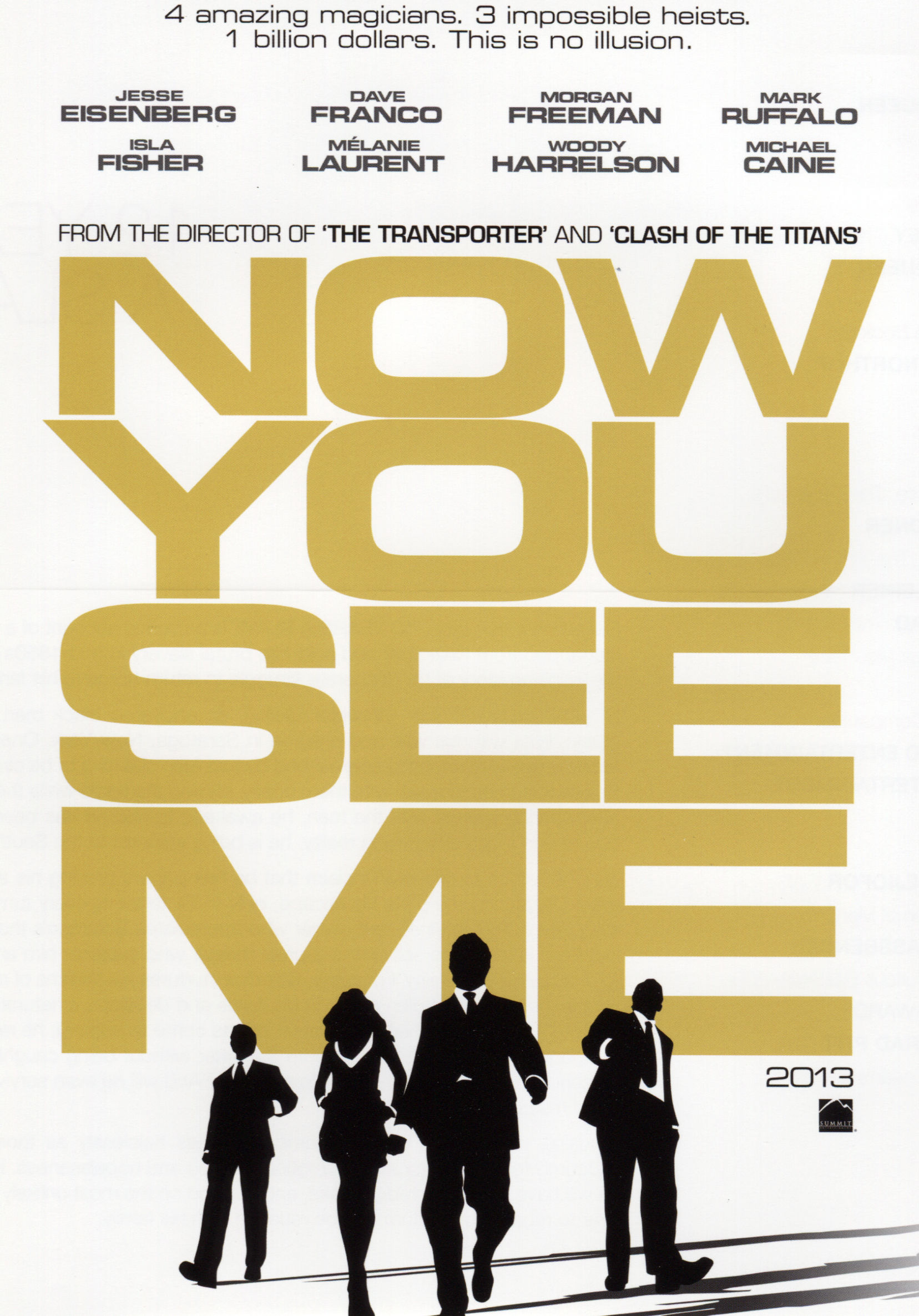 Four Riders Movie Now You See Me Poster