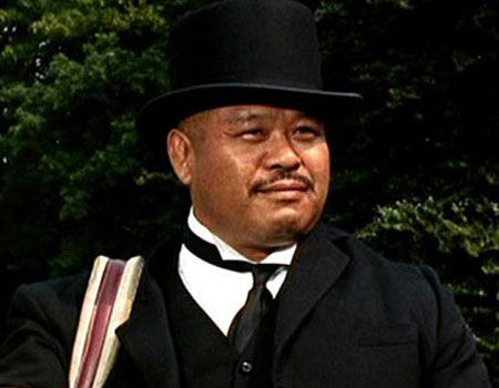 Oddjob with his bowler hat from Goldfinger