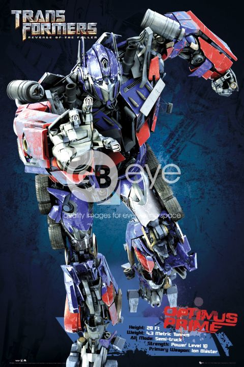 optimus prime New Transformers 2 Posters & Info