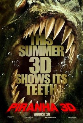 piranha 3d poster 280x415 Industry Immaturity: James Cameron vs. Piranha 3D Producer