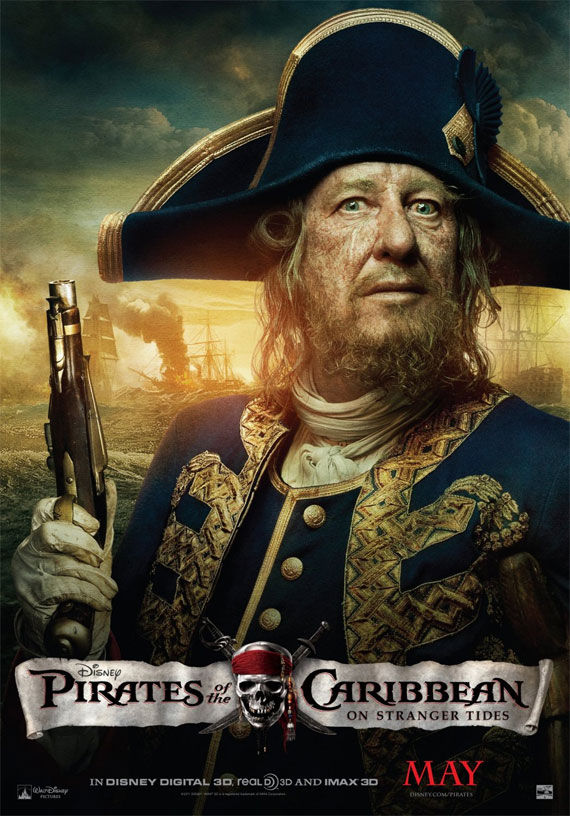 pirates of caribbean 4 geoffrey rush movie poster Movie Poster Roundup: Thor, Pirates of the Caribbean 4, Your Highness & More