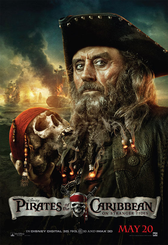 pirates of caribbean 4 ian mcshane Movie Poster Roundup: Thor, Pirates of the Caribbean 4, Your Highness & More