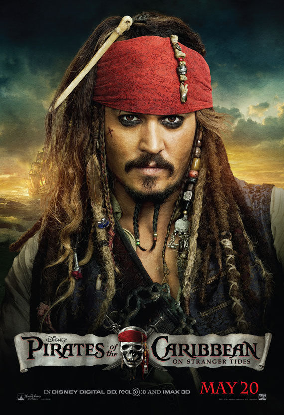pirates of caribbean 4 johnny depp movie poster 1 Movie Poster Roundup: Thor, Pirates of the Caribbean 4, Your Highness & More