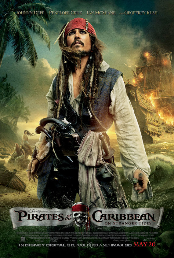 pirates of caribbean 4 johnny depp movie poster 2 Movie Poster Roundup: Thor, Pirates of the Caribbean 4, Your Highness & More