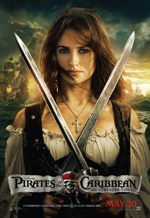 pirates of caribbean 4 penelope cruz movie poster Movie Poster Roundup: Thor, Pirates of the Caribbean 4, Your Highness & More