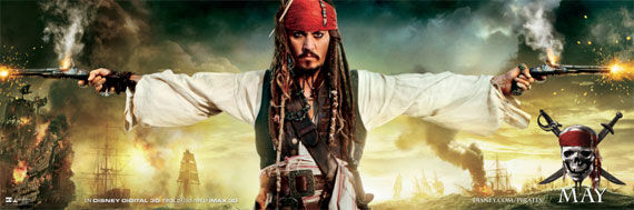 pirates of the caribbean 4 poster Movie Poster Roundup: Fast Five, Thor, X Men: First Class & More