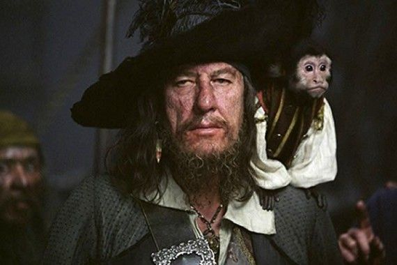pirates of the caribbean captain barbossa 570x380 Barbossa is Back for Pirates of the Caribbean 4