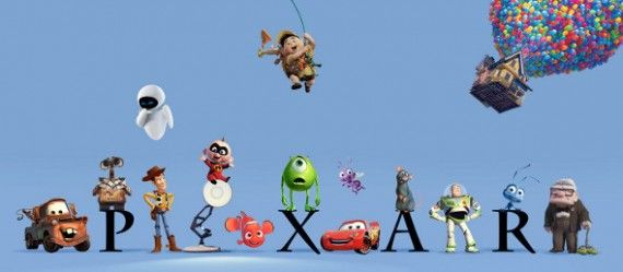 pixar logo 570x249 SR Geek Picks: The Pixar Theory, Movie Posters with the Original Casting, Great Movie Cars & More
