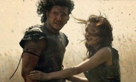pompeii kit harington emily browning 280x170 Pompeii Trailer Offers Action, Romance and a 3D Volcano