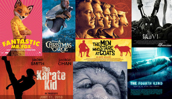 posters saw 6 karate kid where the wild things are christmas carol fantastic mr fox Poster Friday: Toy Story 3, Saw VI, A Christmas Carol & Many More!