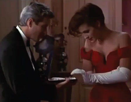 Richard Gere & Julia Roberts as Edward Lewis & Vivian Ward in Pretty Woman