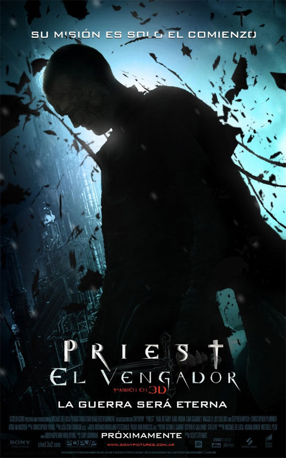 priest 2 poster Movie Poster Roundup: Fast Five, Thor, X Men: First Class & More