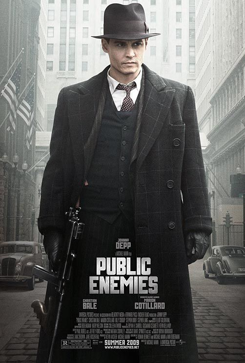 Johnny Depp Public Enemies poster